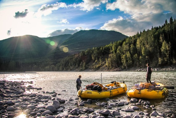 Rafting on the Babine River