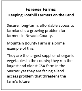 Forever Farms: Keeping Foothill Farmers on the Land